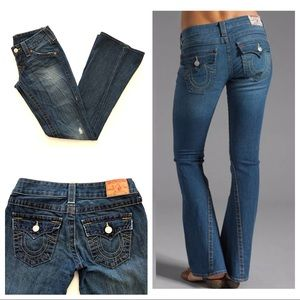 True Religion Joey Flare Blue Jeans